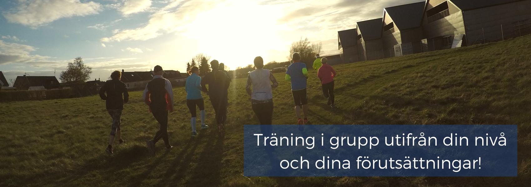 Träning i grupp med Sweden Runners