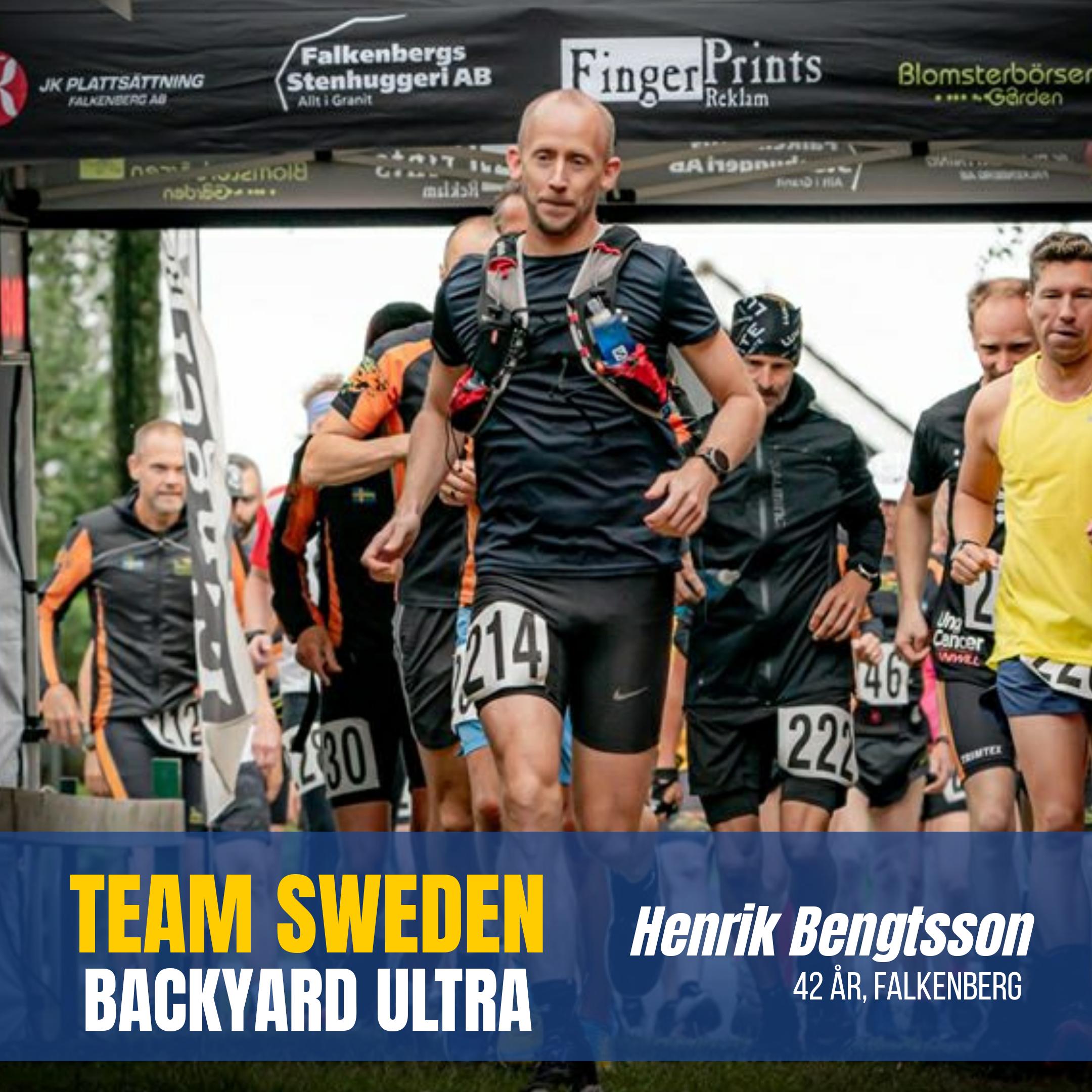 Henrik Bengtsson Sweden Runners Backyard Ultra